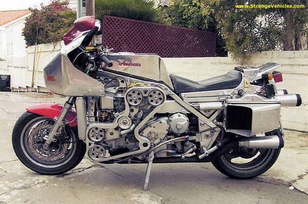 Of course you would build a bike using a Ferrari 308 engine.