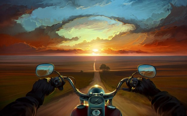 art_road_hands_sunset_motorcycle_050912_zeusbox