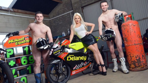 TT Racing Dunlop Brothers Strip Down to Fight Testicular Cancer