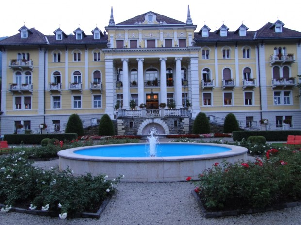 We stayed in a royal palace, and had the porter valet park our bikes, and unload our panniers and top box