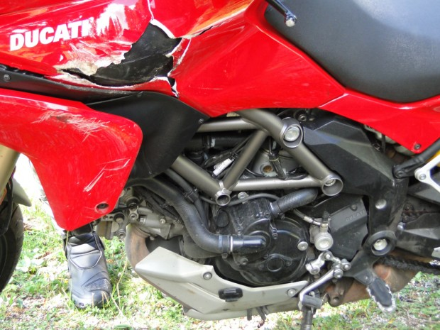 re in Italy, and we just had italian food, the Ducati made a point of making sure Michael had a crash
