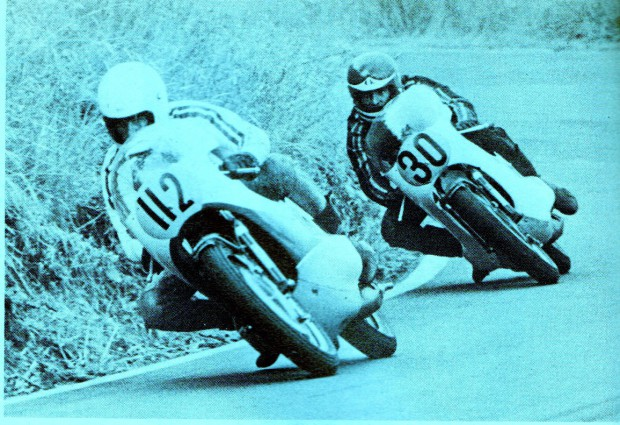 Murray Sayle leading eventual winner Clive Knight