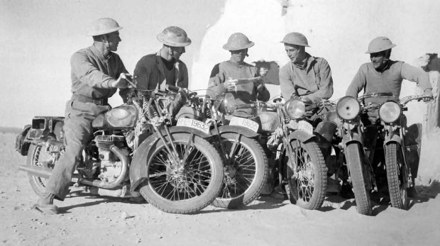 British-troops-on-Italian-motorcycles