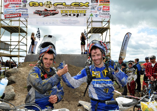 Jarvis _ Gomez 2013 Wildwood Rock Extreme Enduro. Last ever time they raced a Husaberg